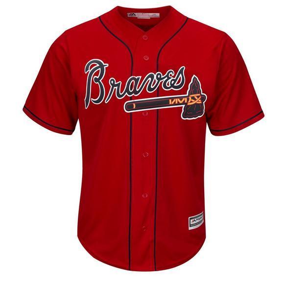competitive price 3d7a4 cf9d1 Majestic Men's Acuna Jr. Atlanta Braves Cool Base Jersey - Red