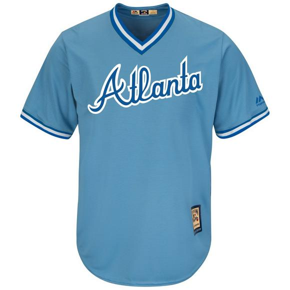 new styles c4572 1d9fa Majestic Men's D. Murphy Atlanta Braves Cool Base Jersey - Light Blue