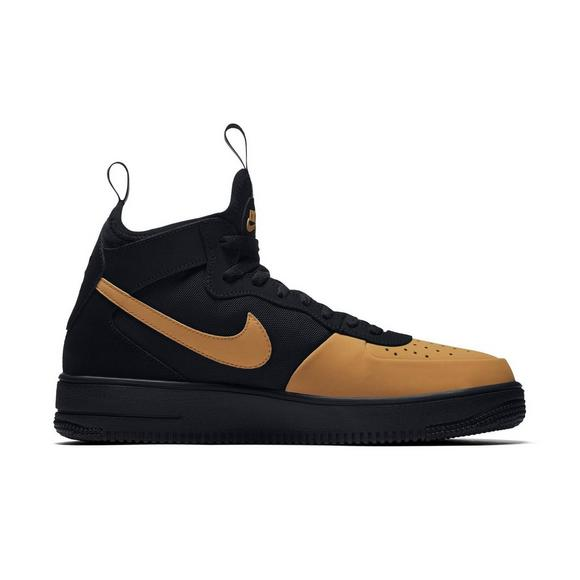 Nike Air Force 1 Ultraforce Mid Tech Black Gold Men S Shoe