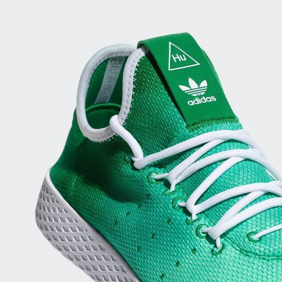 Adidas Pharrell Williams Tennis Hu Green White Men S Shoe Hibbett Us