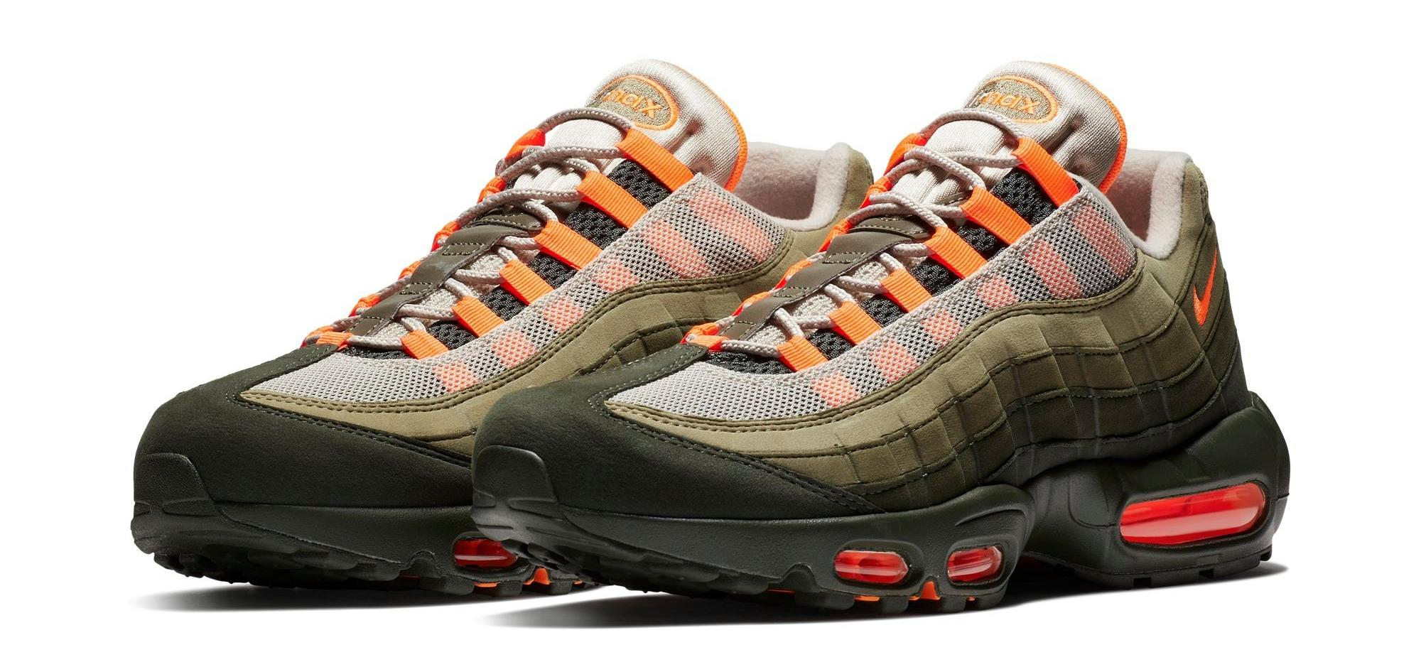 Sneaker Release Womens Nike Air Max 95 Neutral Olive Total Orange