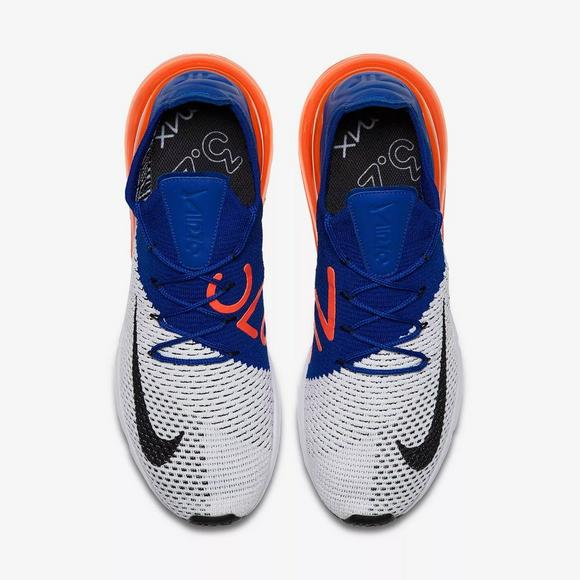 3c13fd161 ... norway nike air max 270 flyknit white racer blue mens shoe main  container a8448 5a53a