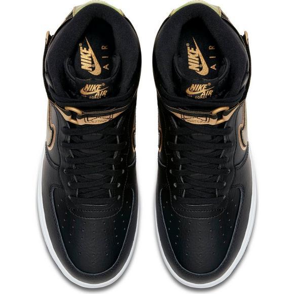 d813fe53fdd ... reduced nike air force 1 high 07 lv8 sport black gold mens shoe 3361e  1fa6b ...