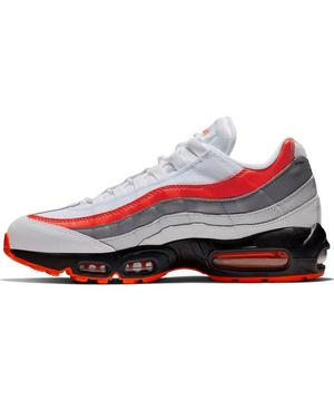 Nike Air Max 95 Essential Grey White Red Men S Shoe Hibbett
