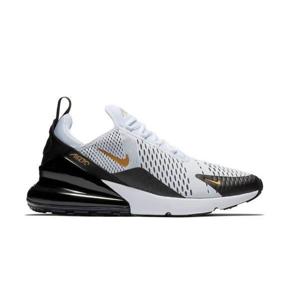 Nike Air Max 270 White Black Gold Men S Shoe Hibbett Us
