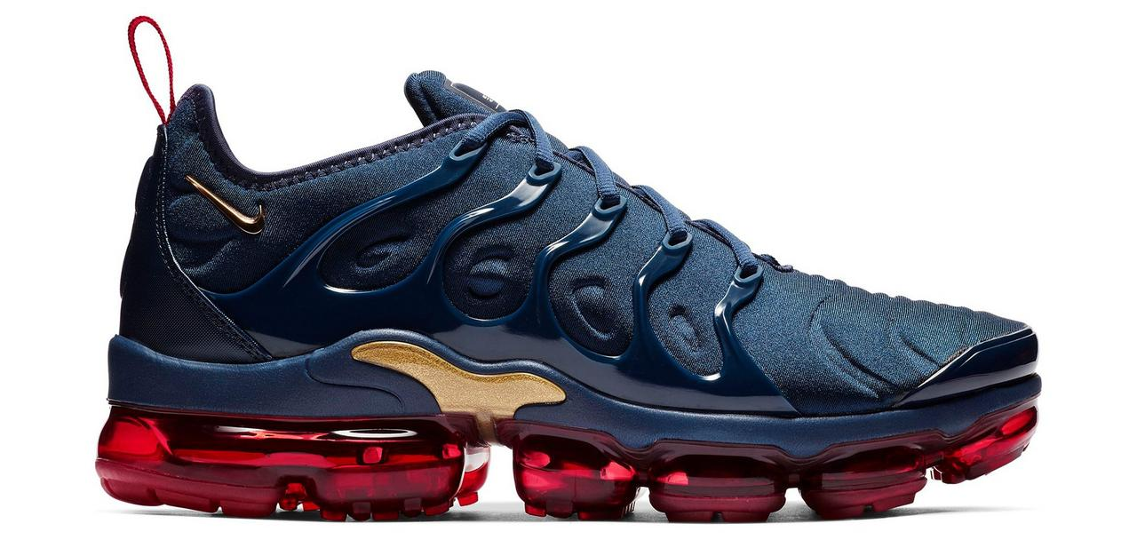 "the best attitude dcbc3 79412 Sneaker Release: Nike VaporMax Plus ""Navy/Red"" Men's Shoe"