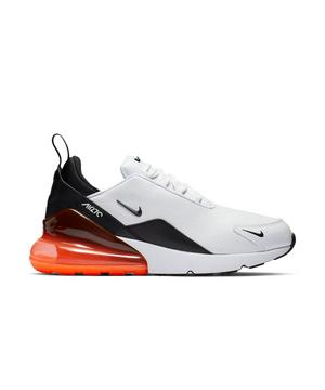 Nike Air Max 270 Premium Leather White Black Red Men S Shoe