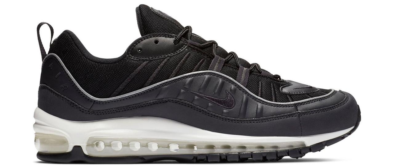 "newest d736c beaa0 Sneaker Release: Nike Air Max 98 ""Gray/Black"" Men's Shoe"