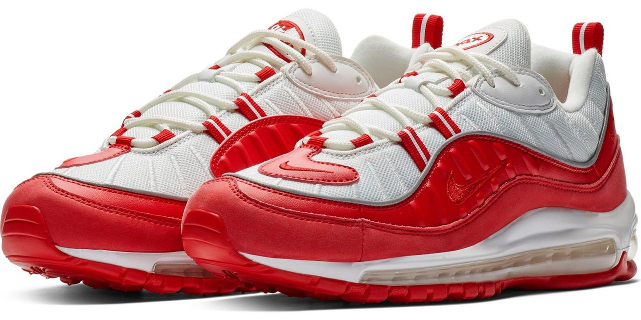 2b2e0113b8 Nike Air Max 98. The 98s feature a mesh and synthetic leather upper along  with a lace-up front and round woven laces. The lightly padded tongue and  collar ...