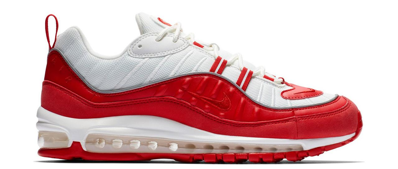 "c97e9f093d Sneaker Release: Nike Air Max 98 ""Red/White"" Men's Shoe"