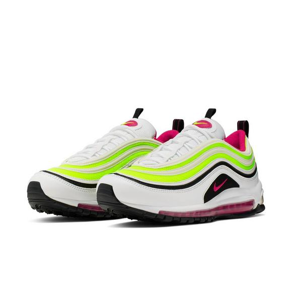 Nike Air Max 97 WhiteRush PinkVolt Men's Shoe Hibbett
