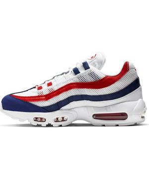 Nike Air Max 95 Americana White Red Blue Men S Shoes Hibbett