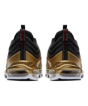 Nike Air Max 97 Qs Black Varsity Red Metallic Gold Unisex Shoe