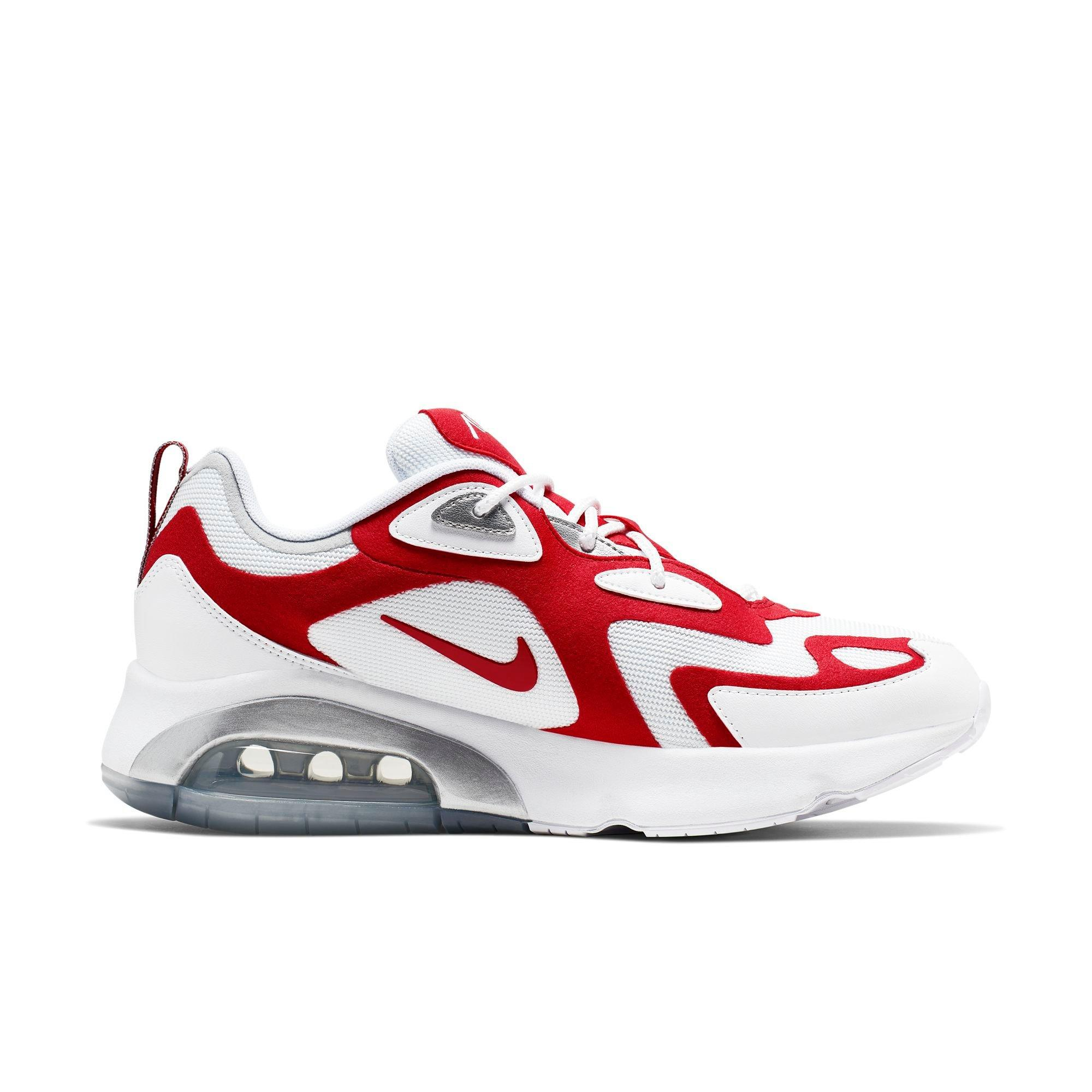 white and red air maxes