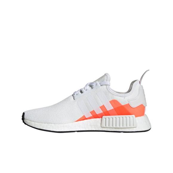 Adidas Nmd R1 White Orange Men S Shoe Hibbett City Gear
