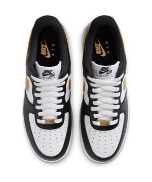 Nike Air Force 1 07 Low Black Metallic Gold White Men S Shoe