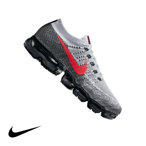 promo code 4712a f1644 Nike Air Vapormax Flyknit Pure Platinum University Red Men s Sho