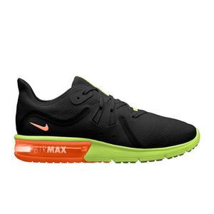 77bffeabfa6a ... order nike air max sequent 3 black volt orange mens running shoe f166d  64d2c