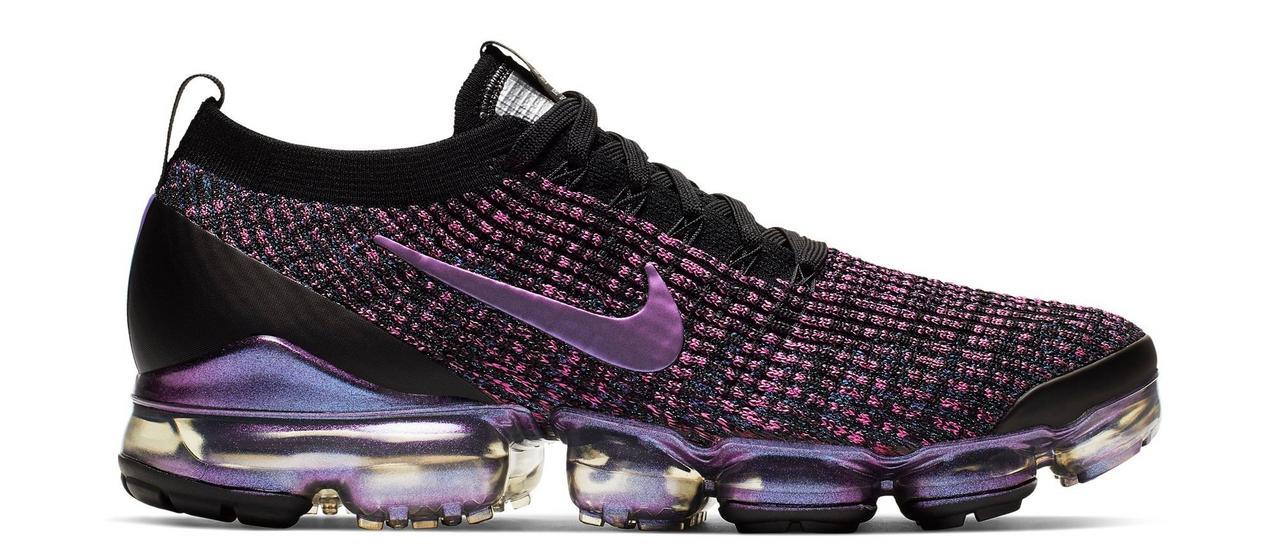 """huge selection of cb664 492f8 Sneaker Release: Nike Air VaporMax Flyknit 3 """"Black/Purple ..."""
