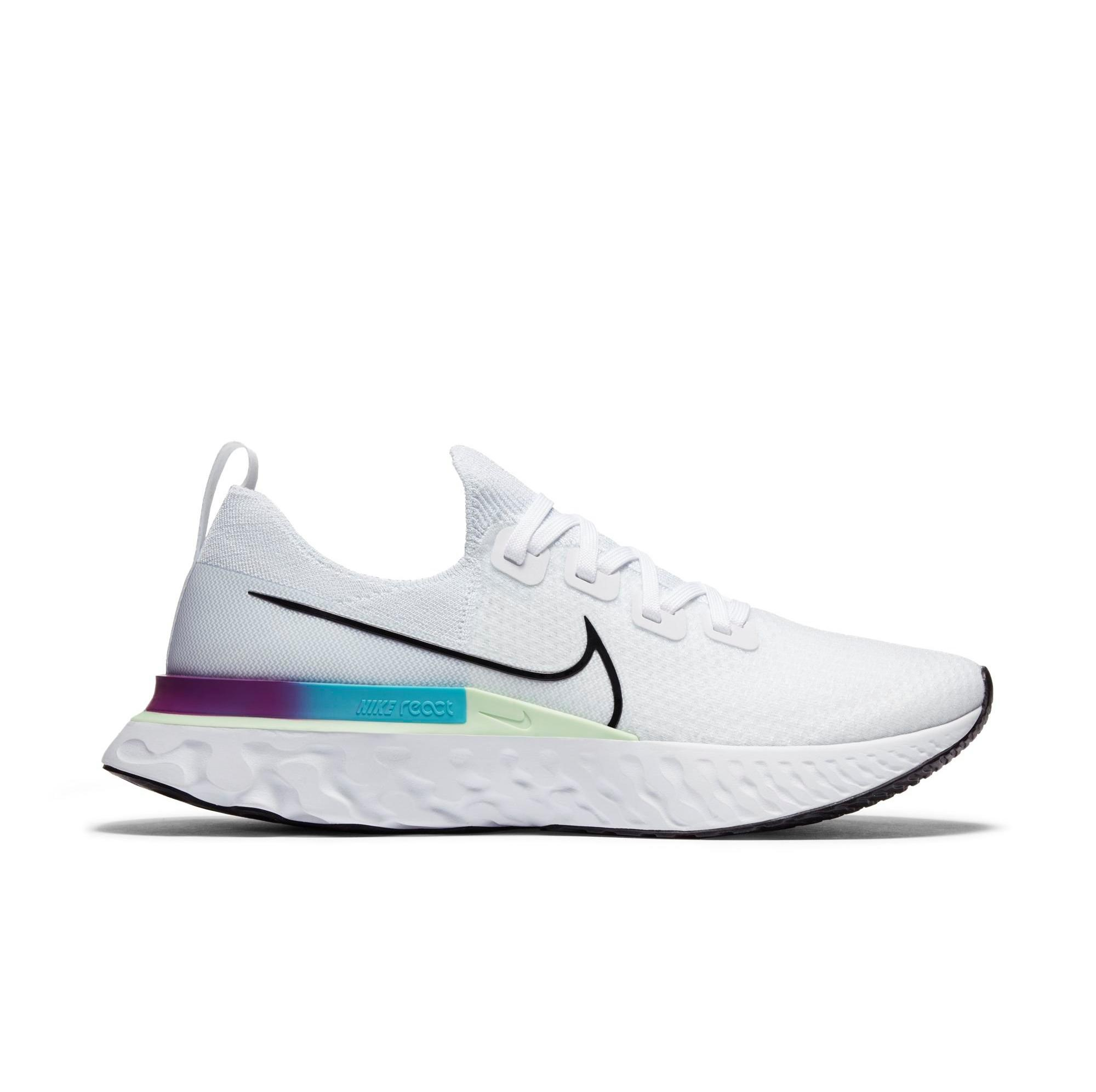 "Nike React Infinity Run Flyknit ""White/Black/Vapor Green"" Men's Running Shoe"