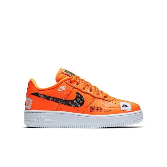 Nike Air Force 1 Premium Jdi Orange Grade School Kids Shoe Main