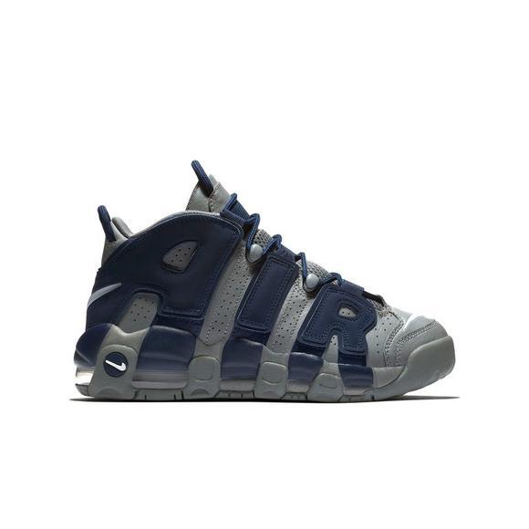 Kids' Air Nike School Grade Uptempo More Us Hibbett Greynavy Shoe 47rnqP4