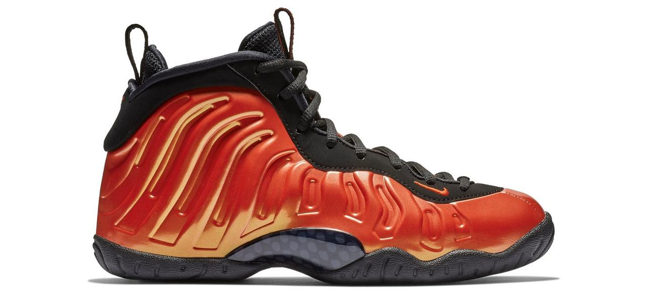 3774e3cc06a Nike Foamposite Habanero Red Basketball Shoes at Hibbett Sports