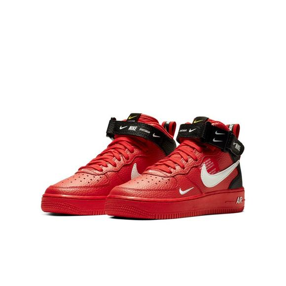 new arrival 8de04 ac50a ... wholesale nike air force 1 mid lv8 university red grade school kids  shoe 6f5f5 c1f71