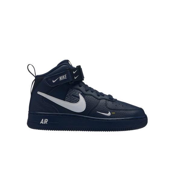 Nike Force Hibbett Shoe Obsidian Mid Lv8 Grade 1 Us Kids' School Air B4xFB