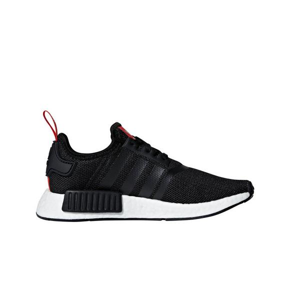 NMD R1 Grade School Running Shoes (PinkBlack)