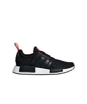 Adidas Nmd R1 Core Black Red Grade School Kids Shoe Hibbett