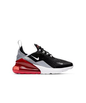 Nike Air Max 270 Black White Red Grade School Kids Shoe Hibbett City Gear