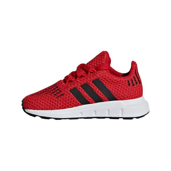 adidas Swift Run Athletic Shoe Little Kid Red Black