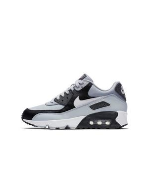 Nike Pre School Air Max 90 Leather (Wolf Grey | Rush Pink | Volt | White)