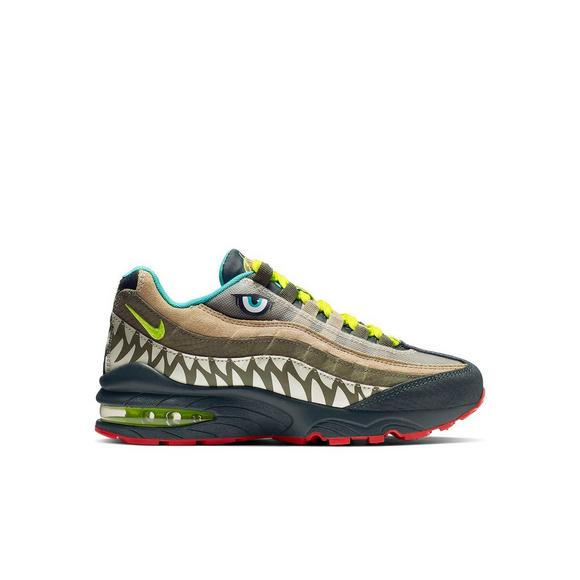 30dbf9bbff Nike Air Max 95 Jurassic Party Grade School Boys' Shoe - Main Container  Image 1