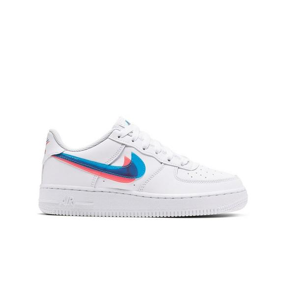 Nike Air Force 1 '07 LV8 sneakers in white with pink swoosh
