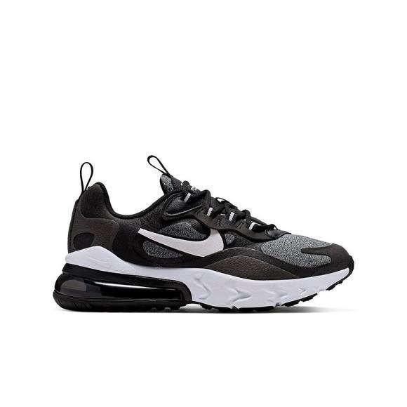 Nike Air Max 270 React Black Vast Grey Noir Grade School Kids Shoe