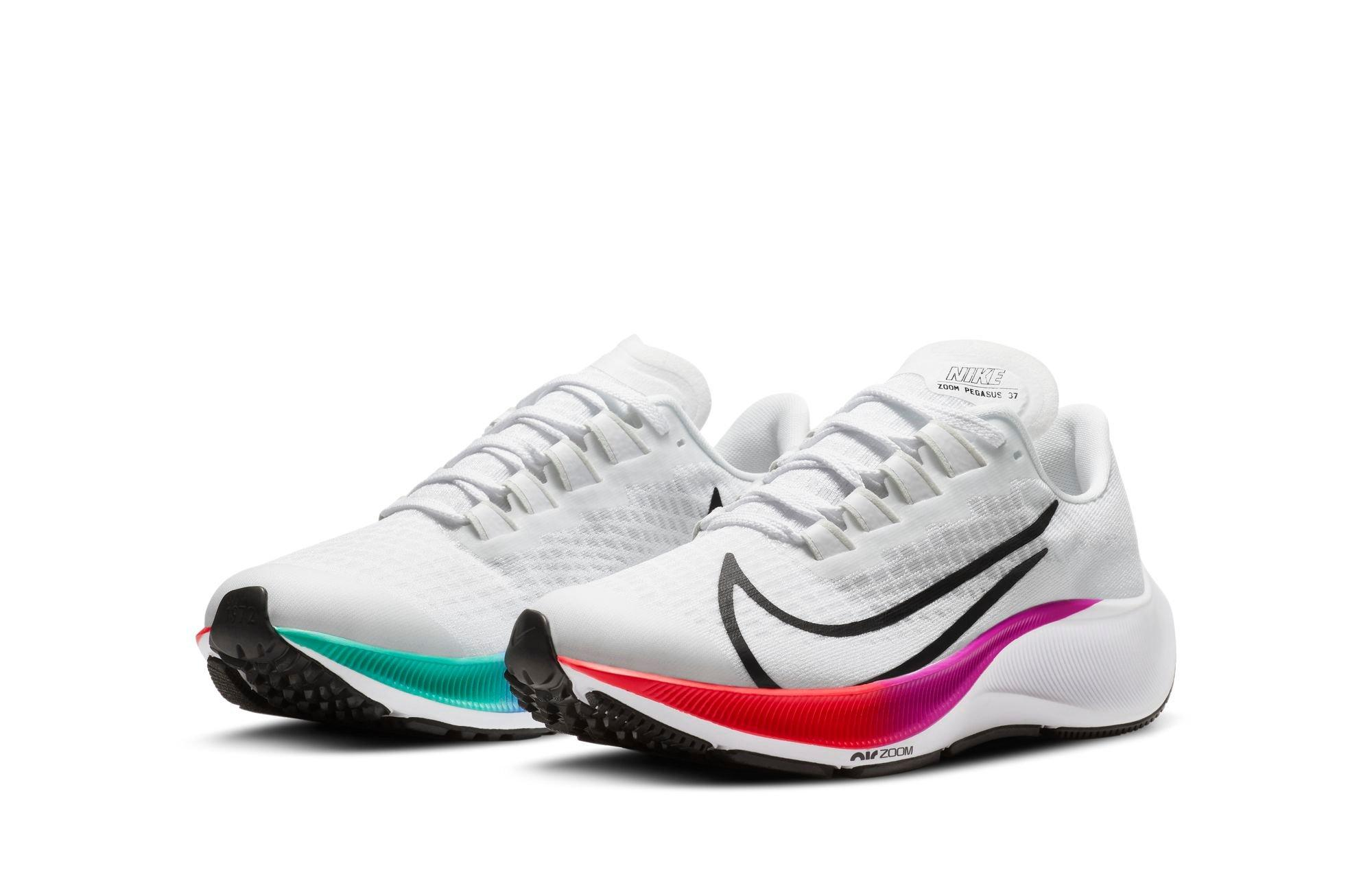 "Nike Air Zoom Pegasus 37 ""White/Flash Crimson"" Running Shoe"