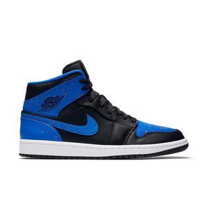 Nike Air Jordan 1 Mid BlackRoyalWhite Mens Shoe