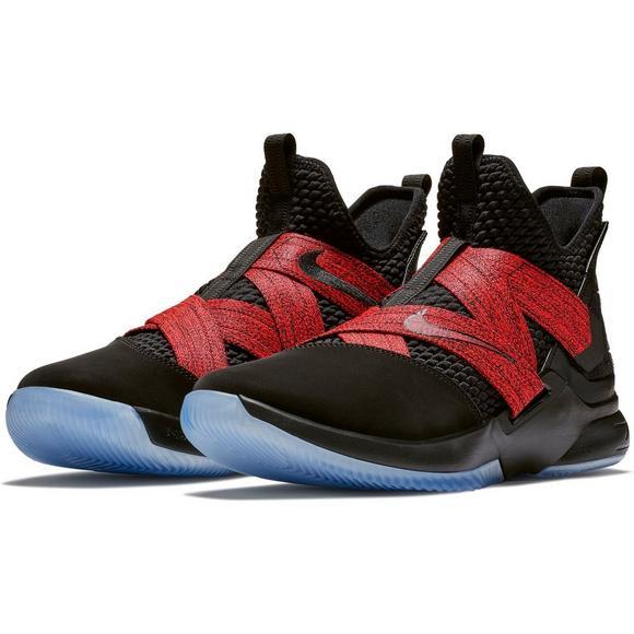 ... ebay nike lebron soldier 12 black red mens basketball shoe main  container image 3c5e2 ac8ec 3a17e8143