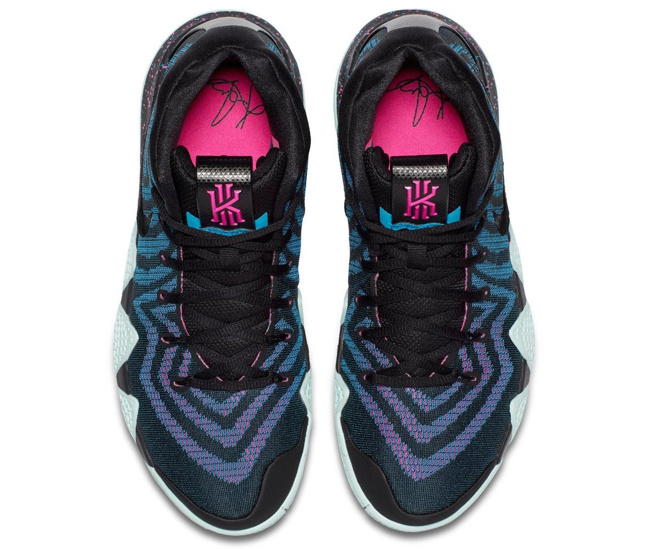 "uk availability 0f909 b2ab7 Sneaker Release: Nike Kyrie 4 ""Black/Laser Fuchsia"""