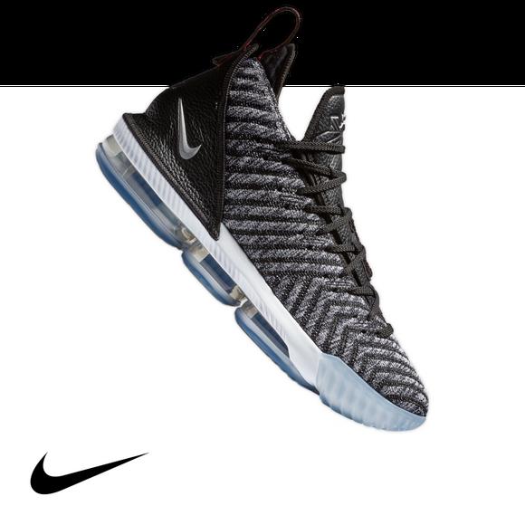 Nike Lebron 16 Black Metallic Silver White Men S Basketball Shoe