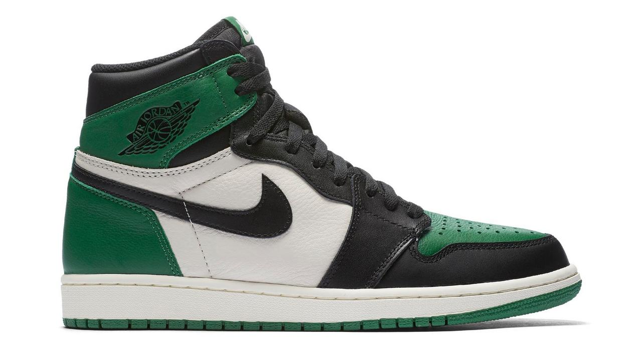 "brand new e6ec1 08762 Air Jordan 1 Retro High OG ""Pine Green"" at Hibbett Sports"