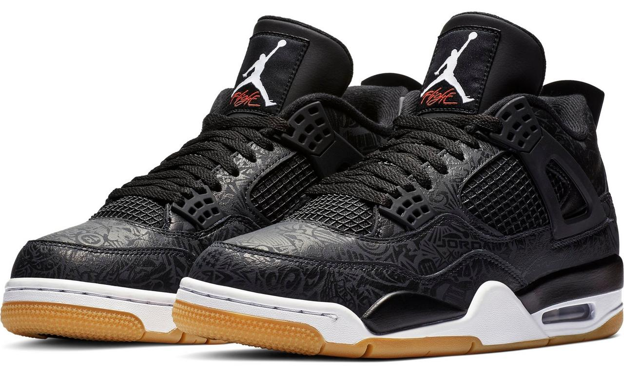 quality design ac804 2a713 Jordan Retro 4. The Rare Air design comes with a distinct leather upper and  a lasered design, which is hard to see, but upon a close-up inspection, ...