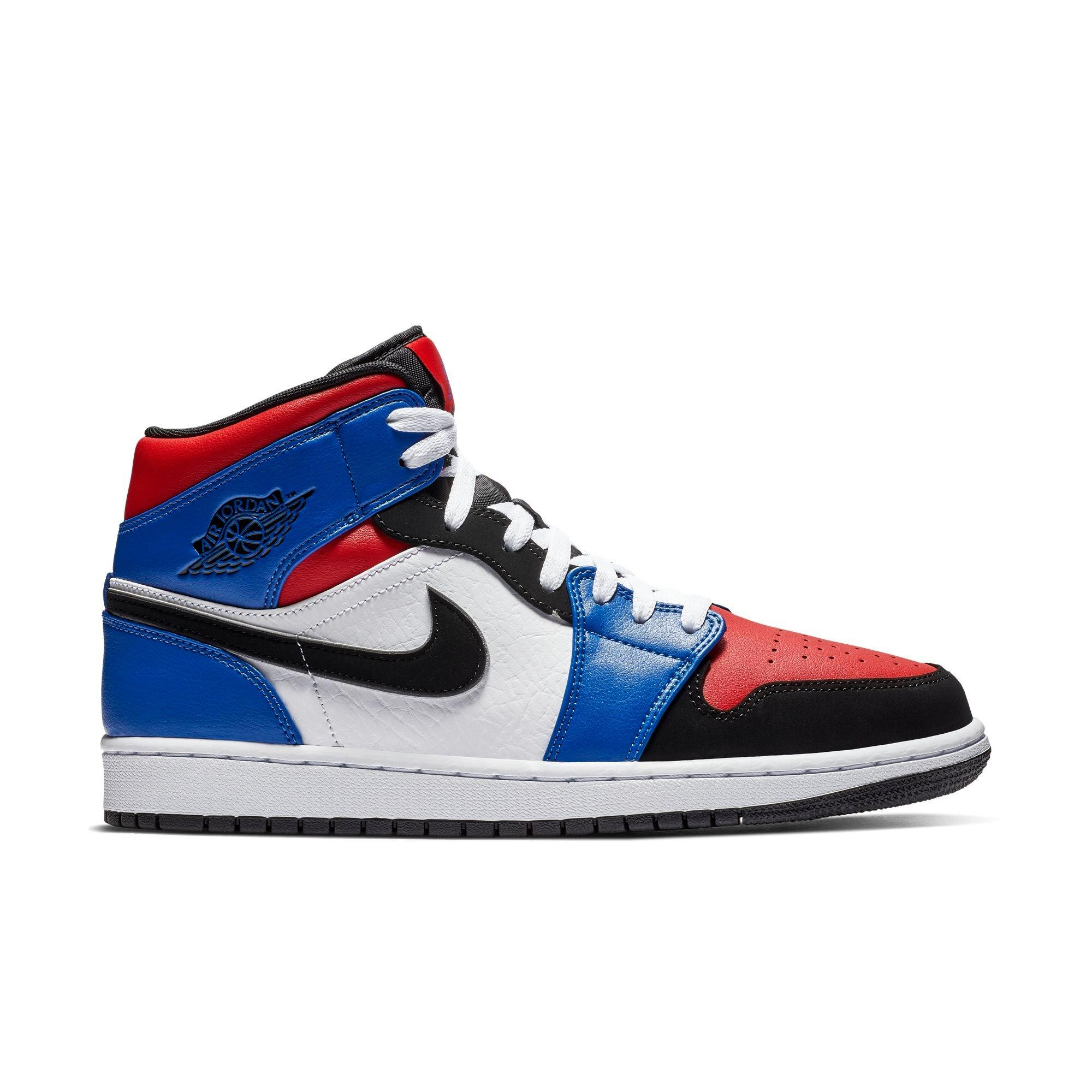 red and blue jordan 1