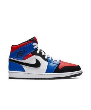 Jordan 1 Mid White Blue Red Men S Shoe Hibbett City Gear