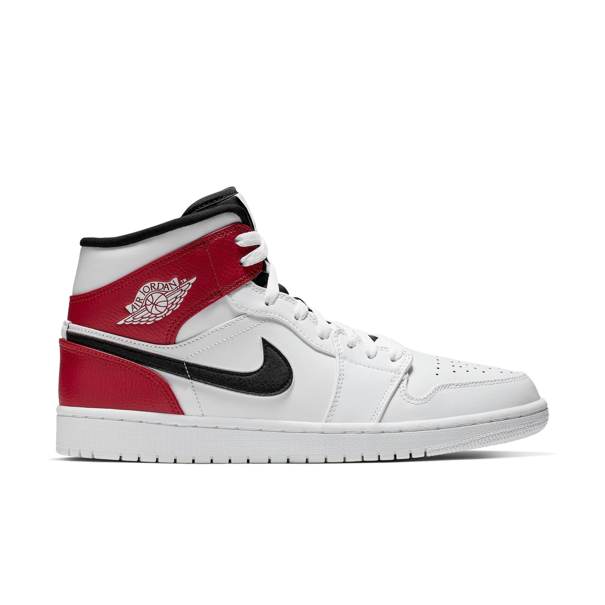 jordan 1 white black red