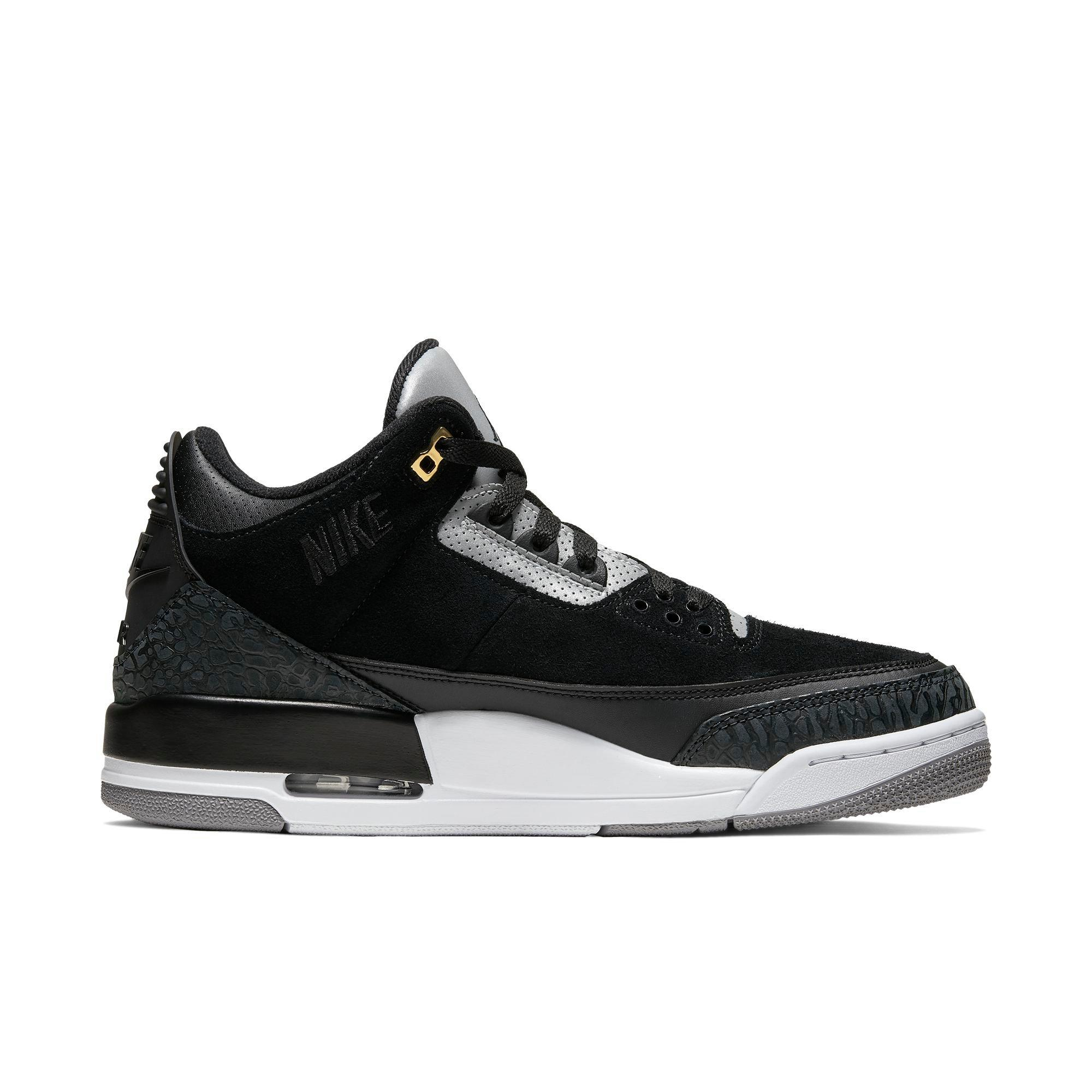 all black jordan 3