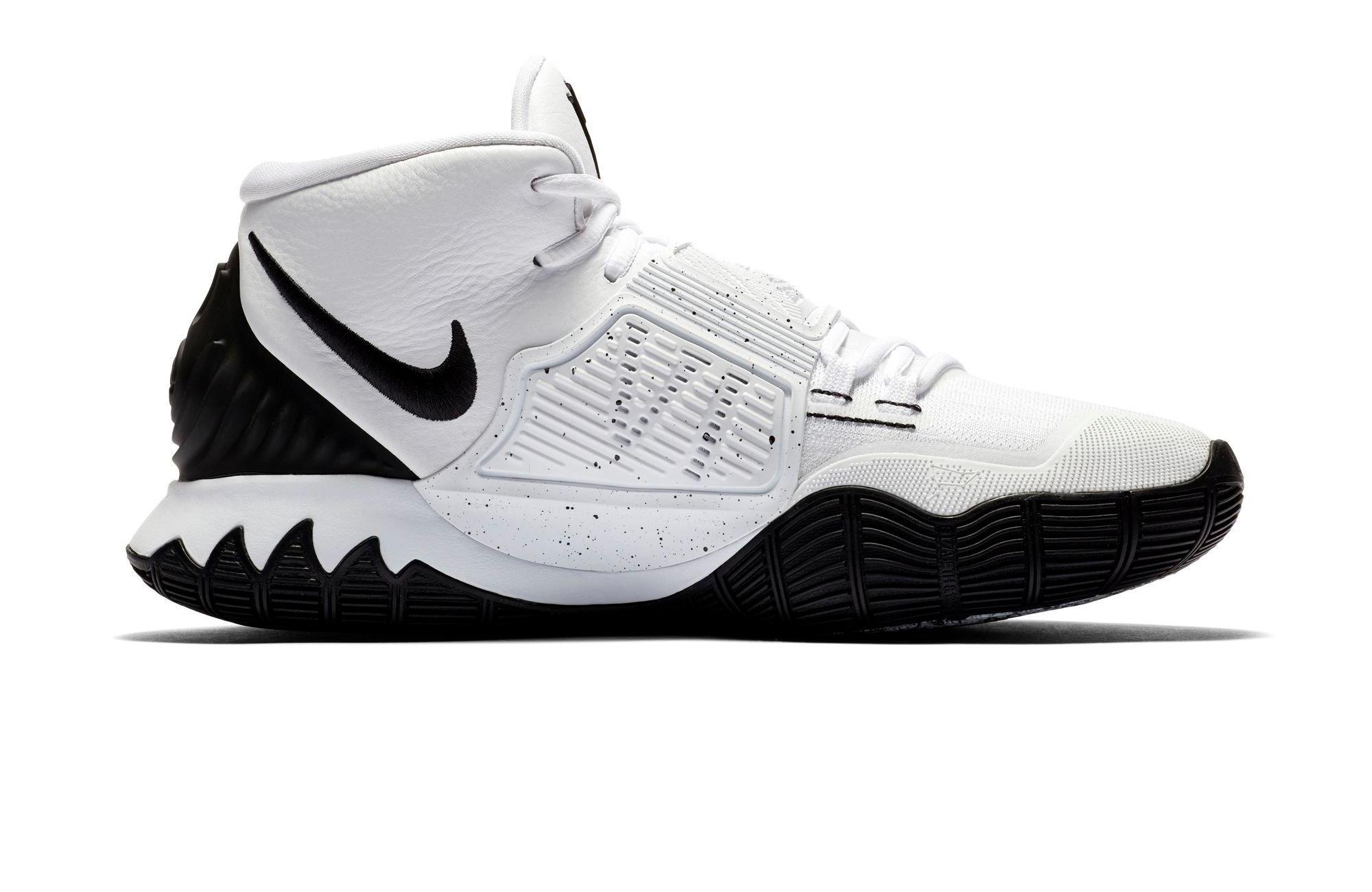 "Nike Kyrie 6 ""Oreo"" White/Black/Pure Platinum right."