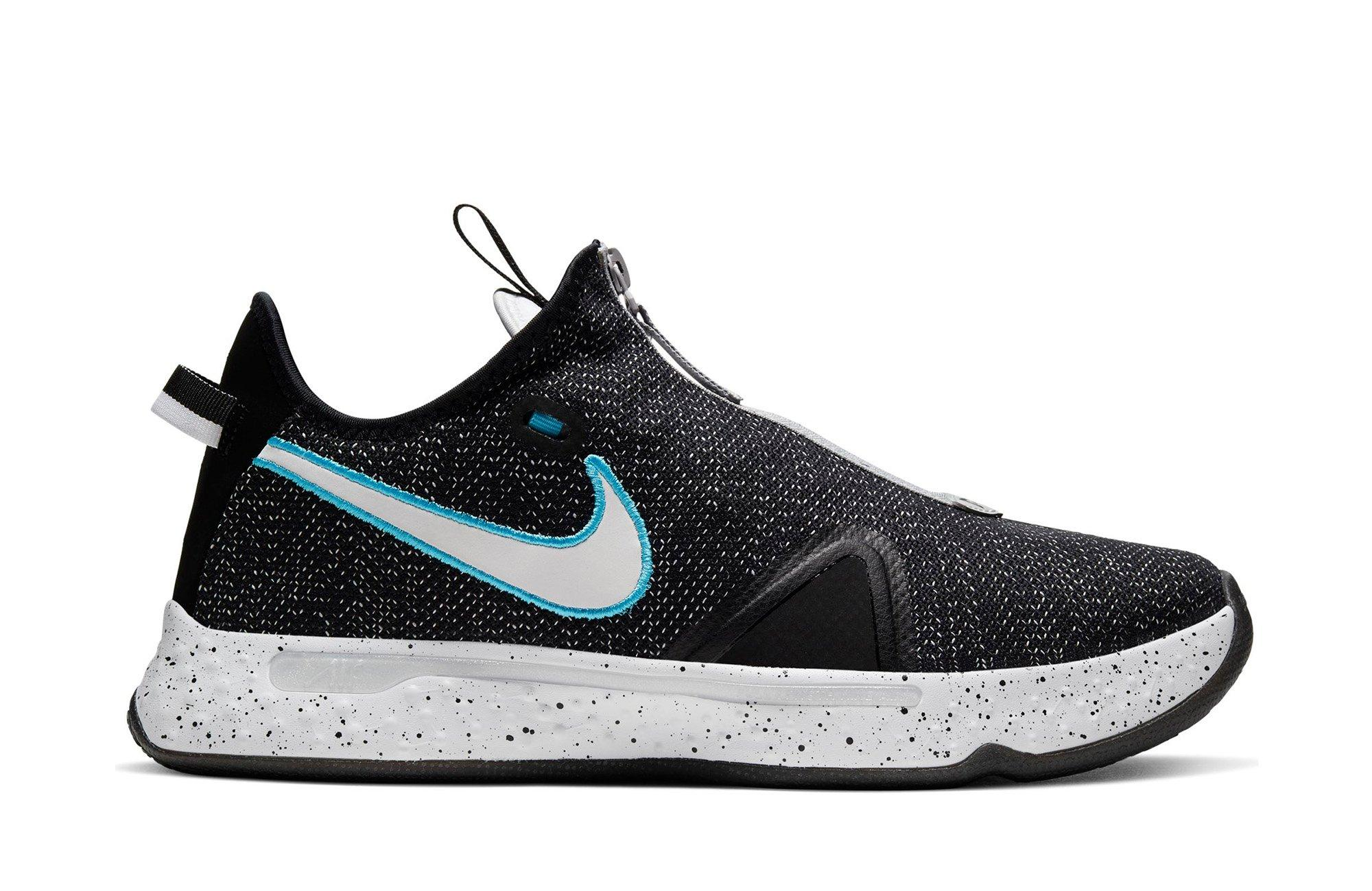 "Nike PG 4 ""Black/White/Wolf Grey"" Men's Basketball Shoe"